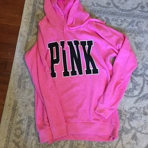 Pink oversized small hoodie